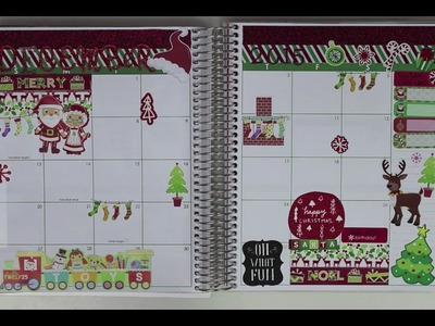 Plan With Me! *December Monthly Spread* ~Christmas Themed~ (My First Monthly PWM)
