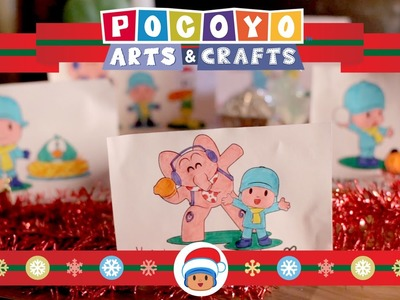 Pocoyo Arts & Crafts: Christmas cards and ornaments [EP 8]