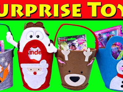 Surprise Toys Christmas Baskets Kinder Surprise Eggs, Blind Bags, Barbie Chelsea Dolls DisneyCarToys
