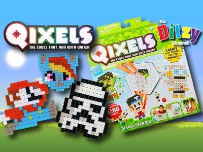QIXELS Art n Craft How-To | Play Along Guess Who Game! | Star Wars My Little Pony Super Mario Bros