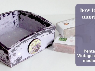 Shabby chic tray - Decoupage tutorial - Vintage medium Pentart