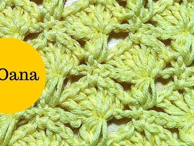 Crochet shell & puff stitche pattern