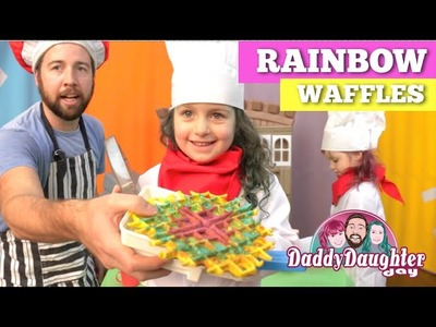 Daddy Daughter Day -  Cooking with Kids (Rainbow Waffles)