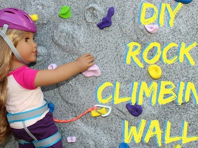 DIY American Girl Rock Wall Craft