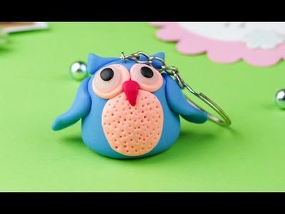 DIY Polymer Clay Owl Keychain