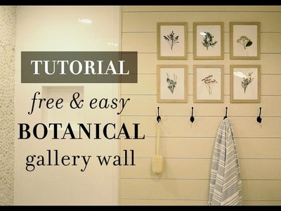 DIY Tutorial: Easy & Free Botanical Gallery Wall