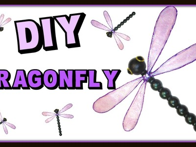 Dragonfly with Resin Wings Home Decor DIY Project ~ Craft Klatch