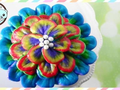 FLOWER CUPCAKES, RAINBOW CUPCAKES, FLOWER CAKE - SUGARCODER
