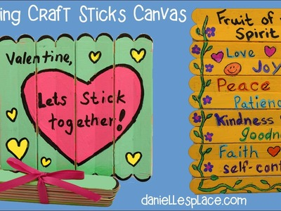 Folding Craft Stick or Popsicle Stick Canvas Craft