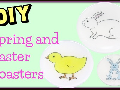 Spring Easter Coasters DIY ~ Another Coaster Friday Craft Klatch