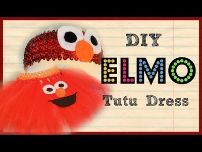 DIY - Elmo Birthday Tutu Set