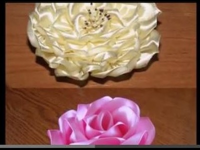 DIY - How to Make Satin Ribbon Flowers Two Ideas !