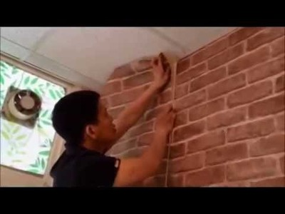 DIY on How To install PVC Sticker Brick Design