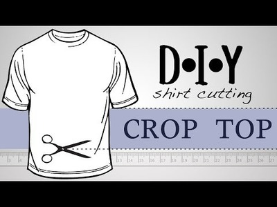 DIY T SHIRT CUTTING- Crop Top Gym Tee