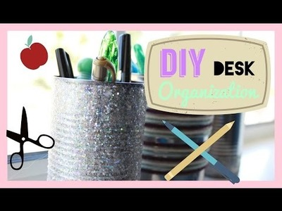 Easy DIY Desk Organization!