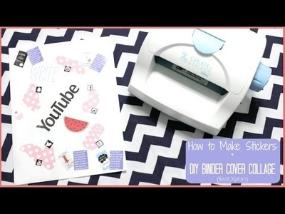 How to Make Stickers + DIY Binder Cover Collage (feat. Xyron) | Alexa's DIY Life