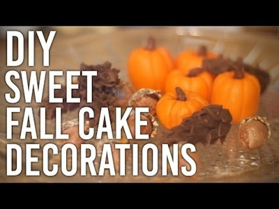 How to Make Sweet Fall Cake Decorations : DIY