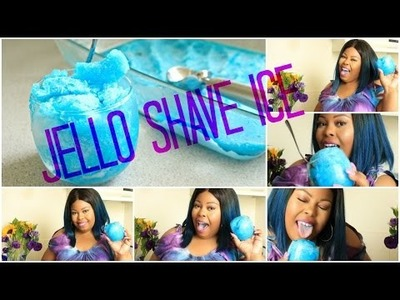 Summer treat | DIY Jello Shave Ice | Collab with JusBasnbeauty