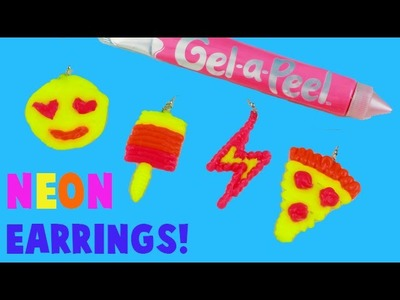 Gel a Peel Neon Earrings Maker  - DIY How To Make Earrings with Neon Silicone Gel