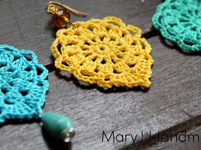 Nice and easy crochet earrings | Aqua