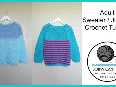 Adult Crochet Sweater Part 3 of 3