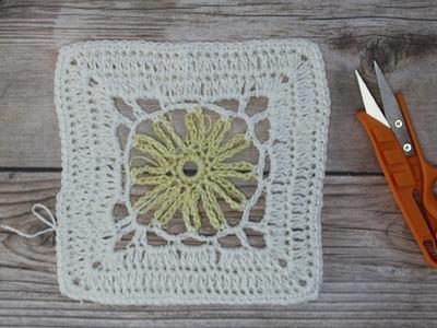 Crochet  4th square Springtime Afghan CAL