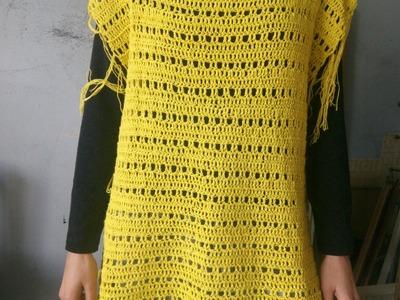 Crochet easy spring poncho