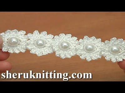 Crochet Mini Flower String Tutorial 115