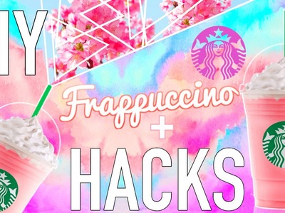 DIY Cherry Blossom Frappuccino + Starbucks HACKS You NEED To Know!