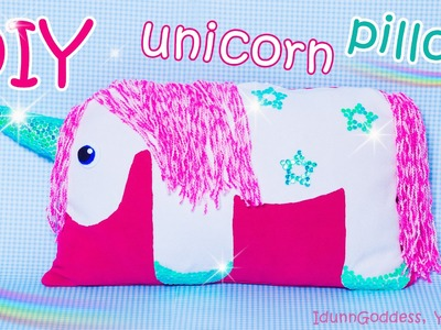 DIY Unicorn Pillow - How To Make A Unicorn Pillow Out Of Old Clothes (NO SEW tutorial)
