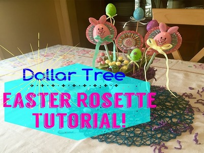 Easter Rosette Tutorial!  Dollar Tree DIY