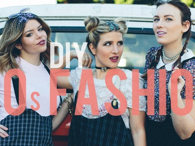 DIY 90's SUSPENDER SKIRT ft. MR KATE! | THE SORRY GIRLS