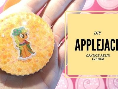 DIY - Applejack - Orange resin charms