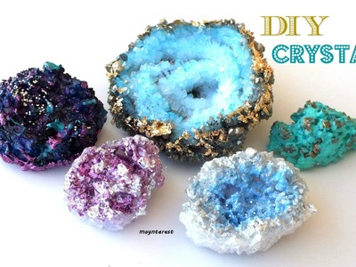 DIY: CRYSTALS - MINERALS (3 options) - Room decor