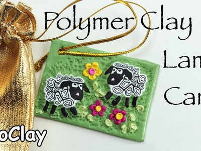 DIY Ester Tag - Polymer clay lamb cane tutorial