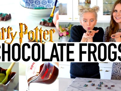 DIY Harry Potter Chocolate Frogs Tutorial ft. Claire from TheKitchyKitchen | Tessa Netting