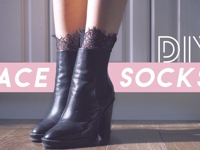 ✂ DIY Lace Trim Socks
