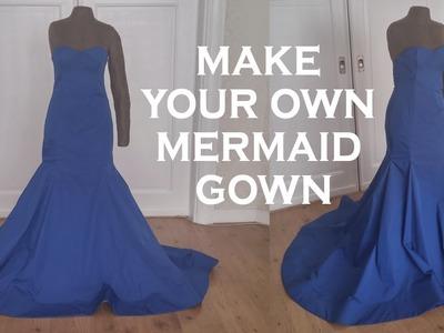 DIY mermaid gown