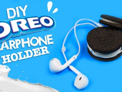 DIY | Oreo Earphone Holder Tutorial - LIFE HACK!