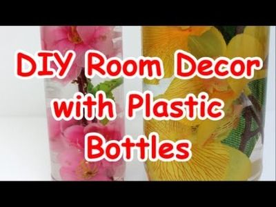 DIY Room Decor Ideas with Plastic Bottles Recycled Bottles Crafts