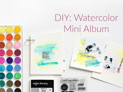 DIY: Watercolor Mini Album