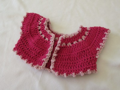 How to crochet a baby bobble bolero. cardigan