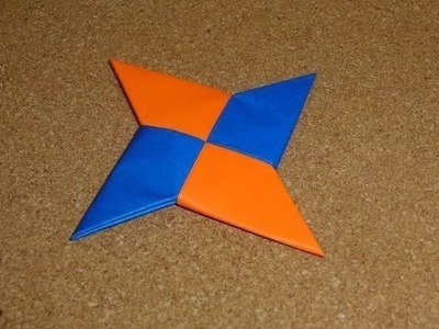 How To Make a Origami Paper Ninja Star Simple-Shuriken - DIY Easy Origami Ninja Star Tutorial