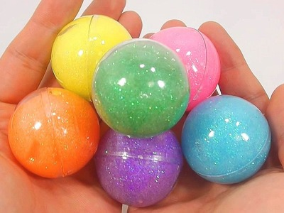 How To Make Rainbow Colours Glitter Slime Ball Clay Recipe DIY