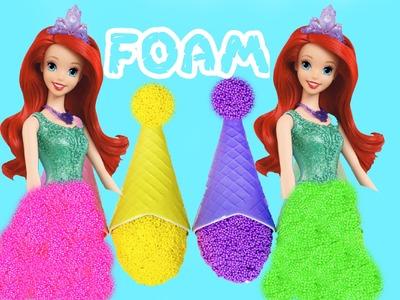 Kinetic Foam DIY Dress ! Belle FOAM Dress Up Fun