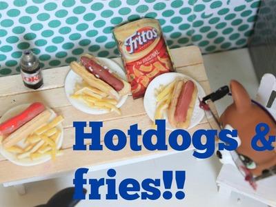LPS DIY Hotdog and fries