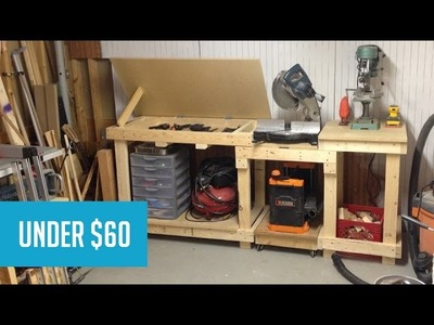 Miter Saw Work Station - Easy DIY