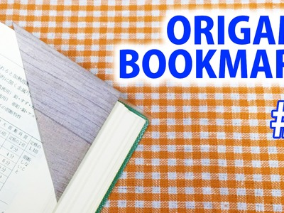 Origami-How to make triangle shape bookmark!《DIY life hack》#2