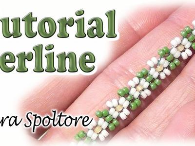 Sarubbest: fiore con perline per principianti - Tutorial perline - DIY anello, collana, bracciale