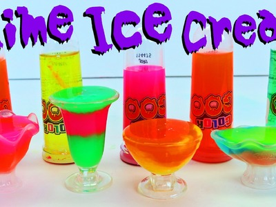 SLIME Ice Cream Toy Goo DIY NEON Putty Learn Big Colors For Kids DisneyCarToys